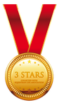3 Stars Collected - Medal by SilviasDesires