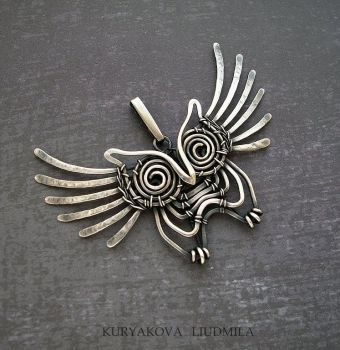 OWL SILVER by KL-WireDream