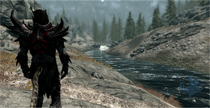 J'zargo in Skyrim's Wilderness by TheYUO