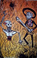 Day of the Dead Woodblock by TadpoleOfDoom