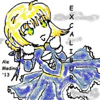 Saber Fate Stay Night (My version in paint) by Princetziita