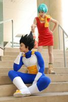DBZ cosplay - Vegeta and Bulma by TechnoRanma