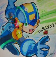 Rockman.exe /Megaman nt warrior by LilianaDreams