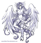 Points commission: Angel Harpia by Rolly-Chan
