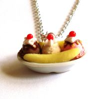 Banana Split Necklace by FatallyFeminine