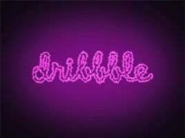 Animated logo Dribbble by krolone