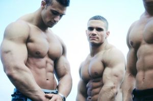 Three Muscle Gods by n-o-n-a-m-e