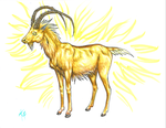 Great Spirits: The Golden Ibex by SerpentScorch