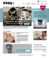 Charity Website Design by Krazy-Kriti