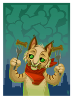 The kat who loved dog treats by Rainroad