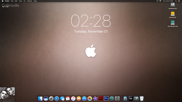 November Desktop - Subdued Sepia by PrincessCakeNikki