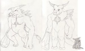 EotW - possible minotaur designs by EricMHE