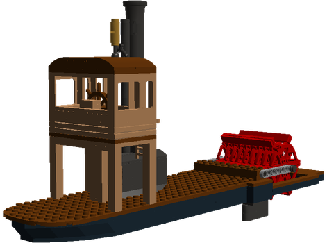 Little Paddle Steamer WIP by Kota123