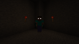 Herobrine's Redstone torch tunnels.. by Minerjoe2000