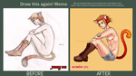 Draw this again! Meme: Puss in Boots by noquietinhere