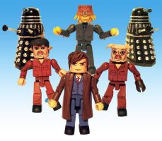 Daleks in Manhattan Custom Minimates by luke314pi