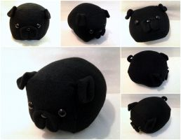 Black Pug Loaf by Jonisey