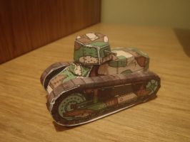 Paper Renault FT-17 by WormWoodTheStar