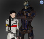 Garrus and me - 3D version by AniaDawson