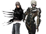 Alex and Raiden again . (render) by WhiteDevil350