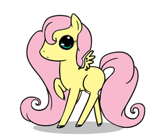 Chibi Fluttershy by Lyd2000