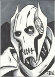 General Grievous Sketch Card by Steevcomix