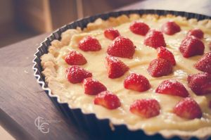 Tarte Vanille/Fraise - Strawberry Pie by ClaraLG