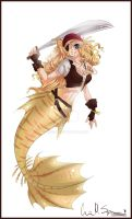 .:Mermaid Commission:. by Busoni