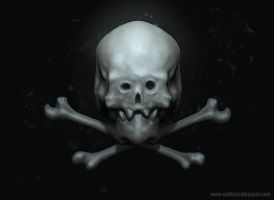 Skull and crossbones by x-ste-x