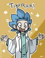 Rick and Morty - Tiny Rick! by caycowa