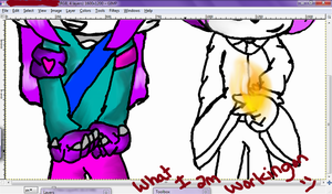 Screenshot preview of what I'm working on in GIMP by xItsElectric