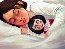 Sleep well (Dishonored Creep!Sleep: Emily) by chocolatejunkie