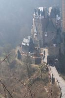burg eltz in fog by ingeline-art