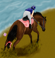 Racing to support the Ladies by patchesofheaven74