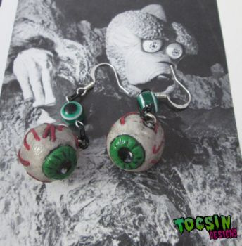 Creepy Eyeball Earrings by TocsinDesigns