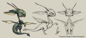 Wyrm Sketches by TheCGCy
