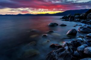 Tahoe's East Shore on a Summer Evening by sellsworth