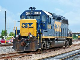 CSXT 6038, EMD GP40-2 by Silverwolf-1ofmany