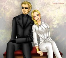 Commission: Alex and Albert Wesker by manu-chann