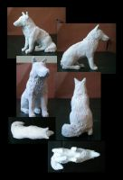 Wolf Sculpture for sale by CreatTheCrow