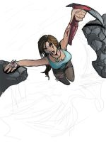 Lara Croft Tomb Raider 2012 WIP by littlesusie2006