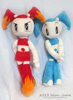 NEW Jenny and Hot Rod Jenny plushies by Neon-Juma