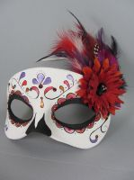 Deluxe Fall Colors Day of the Dead Mask by maskedzone