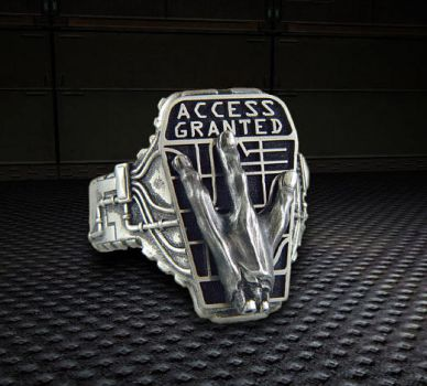 Access Granted Ring by gamerjewelry