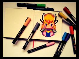 Princess Zelda Retro Gaming by WonderKaa