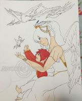 Copic WIP Art: Mother and Son by AnimeEmm