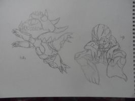 DOOM 4 Pinky And Imp by PanZhen3