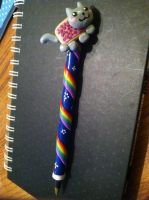 Nyan Cat Clay Pen by miruru06