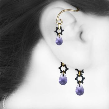 Purple Industrial Ear Wrap V7 by YouniquelyChic