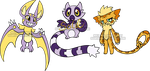 Digimon Rookie Adoptables1 by Sakuyamon